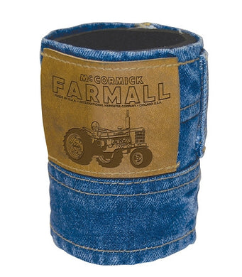Farmall Denim Can Koozie - tractorup2