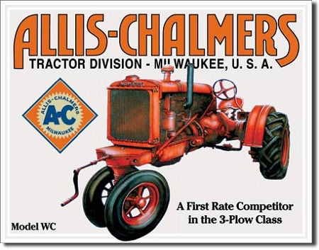 Allis Chalmers Model U Tin Sign - tractorup2