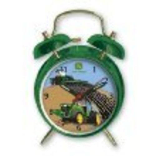 John Deere Child's Twin Bell Alarm Clock - tractorup2