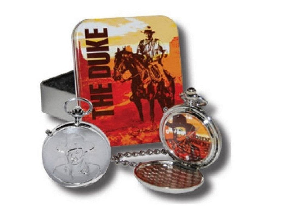John Wayne Talking Tin Pocket Watch