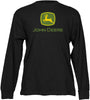 John Deere Long Sleeved Black Green T-Shirt
