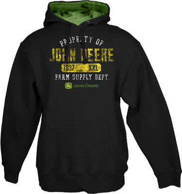 John Deere Property Of Black Hooded Sweatshirt