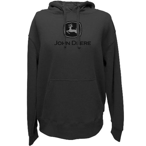 John Deere Hooded Charcoal Sweatshirt w/ Black Logo