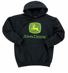 John Deere Black Hooded Sweatshirt - tractorup2