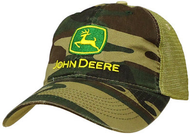 John Deere Camo and Mesh Hat - tractorup2