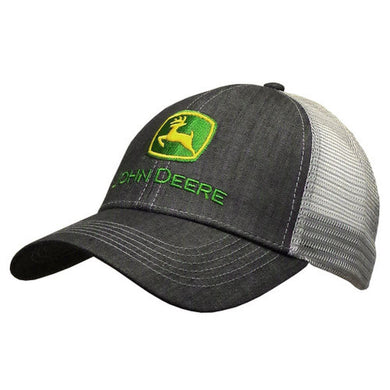 John Deere Dark Denim Hat with 2000 Logo - tractorup2