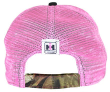 Case IH Pink with Camo Distressed Mesh Hat - tractorup2