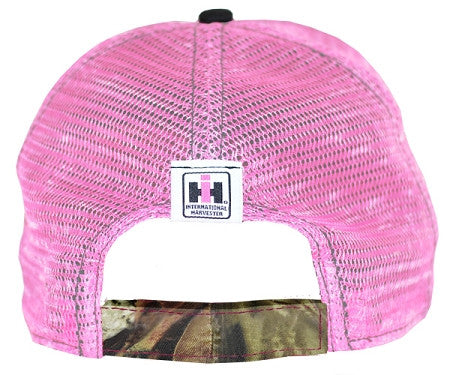 Case IH Pink with Camo Distressed Mesh Hat