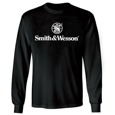 Smith & Wesson Long Sleeved Black Logo T-Shirt - tractorup2