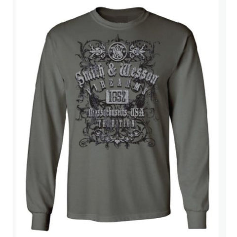 Smith & Wesson Firearms Tradition Long Sleeved Logo T-Shirt