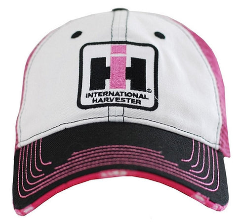 Case IH Pink Mesh Distressed Hat