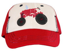 Case IH Two Tone Tractor with Buttons Toddler Hat - tractorup2