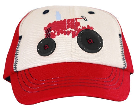 Case IH Two Tone Tractor with Buttons Toddler Hat