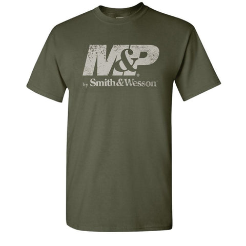 M&P by Smith & Wesson Men's Distressed Logo Tee