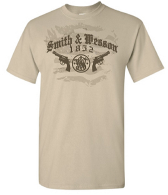 Smith & Wesson Tan Firearms T-Shirt - tractorup2