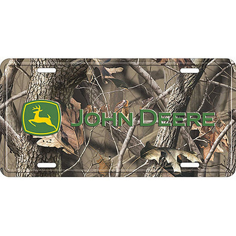 John Deere Realtree Camo License Plate