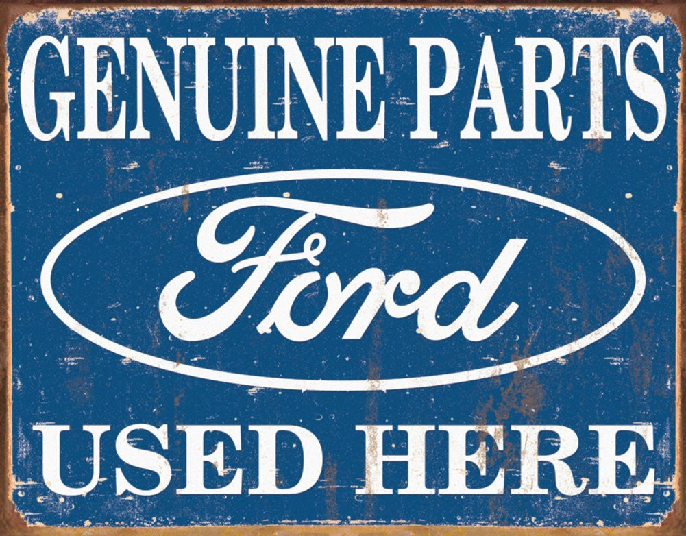 Ford Parts Tin Sign , 16X13 - tractorup2