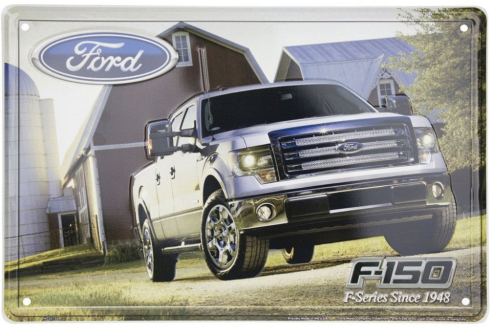 Ford F-150 F-Series Since 1948 Metal Sign - tractorup2