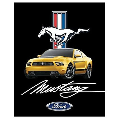 "Ford Mustang Heavy Fleece Sherpa Blanket 48"" X 60"" - tractorup2"