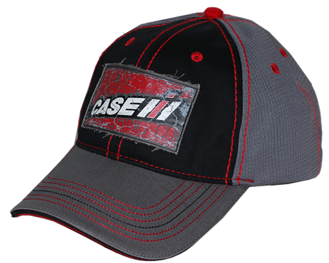 Case IH Black And Grey Distressed Hat
