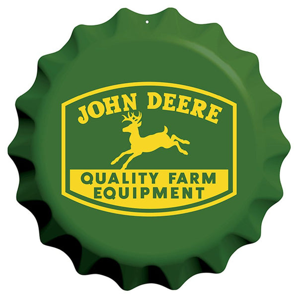 John Deere Bottle Cap Embossed Sign
