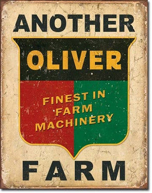 Another Oliver Farm Logo Tin Sign - tractorup2