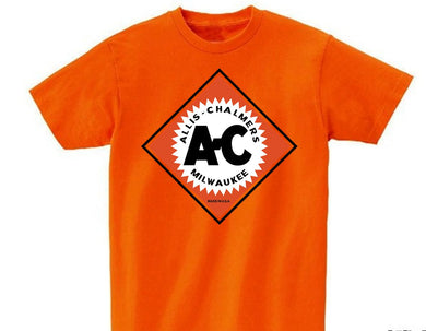 Allis Chalmers Custom Vintage Logo T-Shirt, Orange - tractorup2