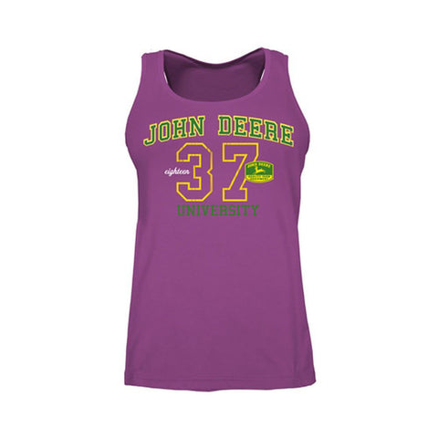 John Deere Woman's Fuchsia University Tank Top