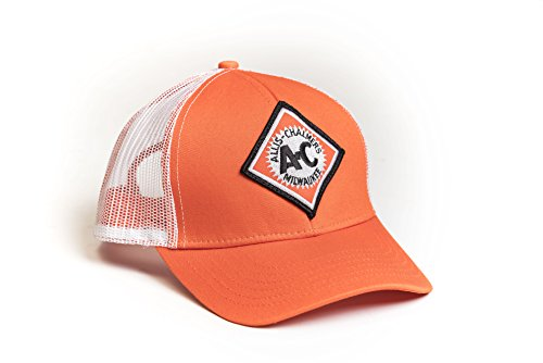 Allis Chalmers Tractor Hat, Vintage Logo, Orange with White mesh Back - tractorup2