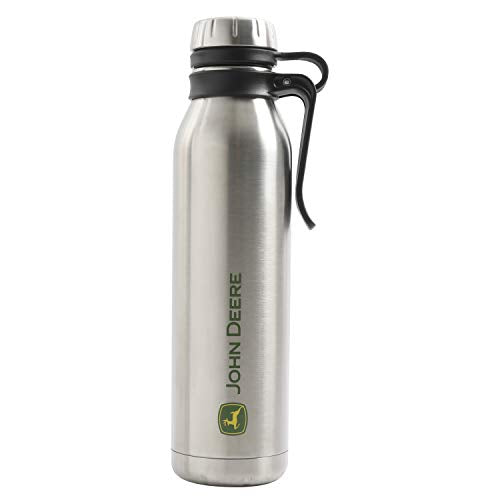 Gibson John Deere Thermal Double Wall Stainless Steel, 22.5oz Bottle, Grey