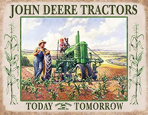 John Deere Lunchtime Metal Sign