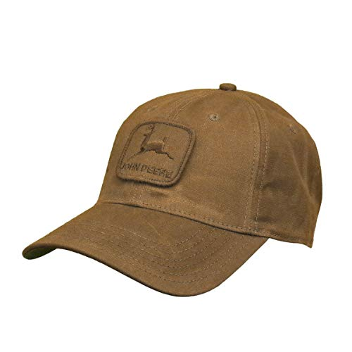 John Deere Workwear Waxed Canvas Hat W/Patch, Brown - tractorup2