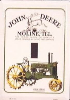 John Deere Tractor Light Switch Plate
