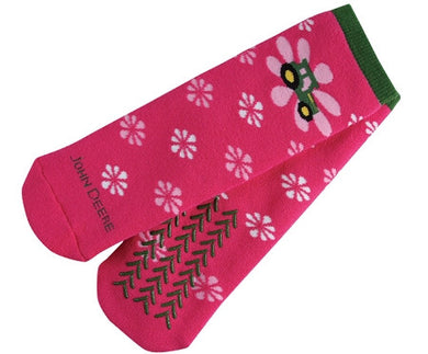 John Deere Pink Slipper Womens Socks