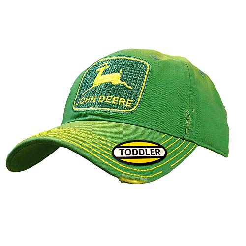 John Deere Toddler Kids Vintage Trademark Hat-Green - tractorup2