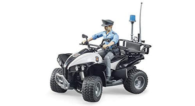 Bruder 63011 Police Quad w Light Skin Policeman and Accessories