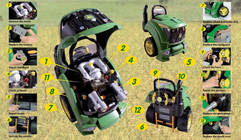 John Deere Realistic Toy Repairable Engine
