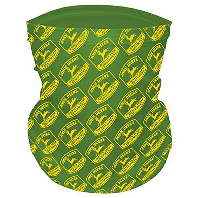 John Deere Adult Neck Gaiter with Logos, Green