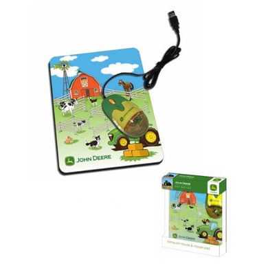 John Deere Liquid Optical Mouse with Pad (Farm Scene) - tractorup2