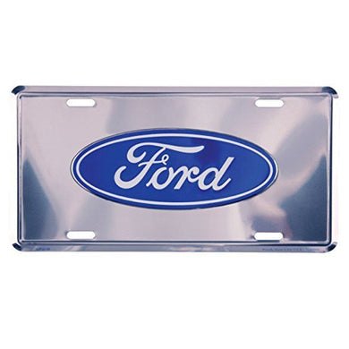 Ford License Plate - Silver 14728 - tractorup2