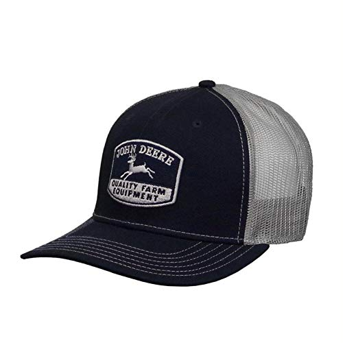 John Deere Mesh Backed Hat Farm Logo, Navy - tractorup2
