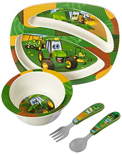 John Deere's Johnny Tractor and Friends Feeding Set 4 Pieces