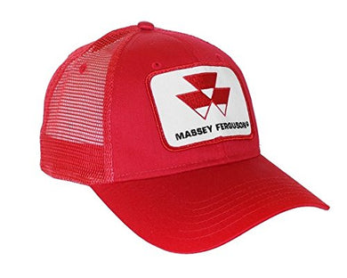 Red Massey Ferguson Tractor Logo Hat with Mesh Back
