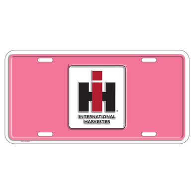 Case IH Embossed Pink License Plate - tractorup2