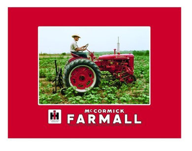 International Harvester McCormick Farmall Fleece Blanket Featuring Model C Tractor - tractorup2