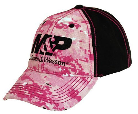 M&P by Smith & Wesson Ladies Pink Digital Camo Logo Cap Hat
