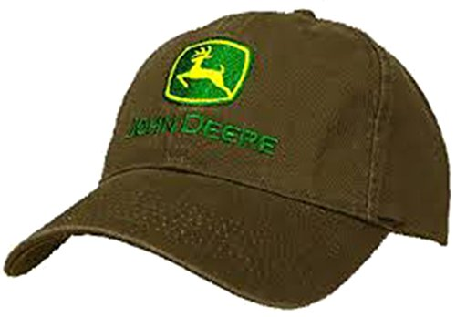 John Deere Embroidered Trademark Logo Brown Hat - tractorup2