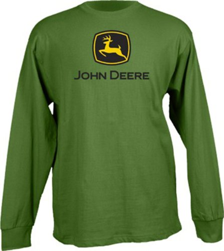 John Deere Boys Long Sleeve Basic Logo Tee-medium - tractorup2