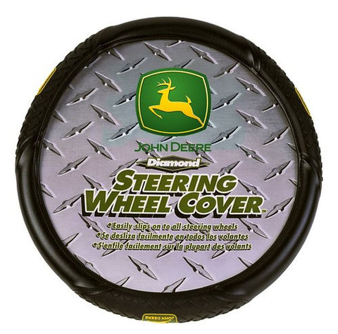 John Deere Diamond Plate Grip Style Steering Wheel Cover