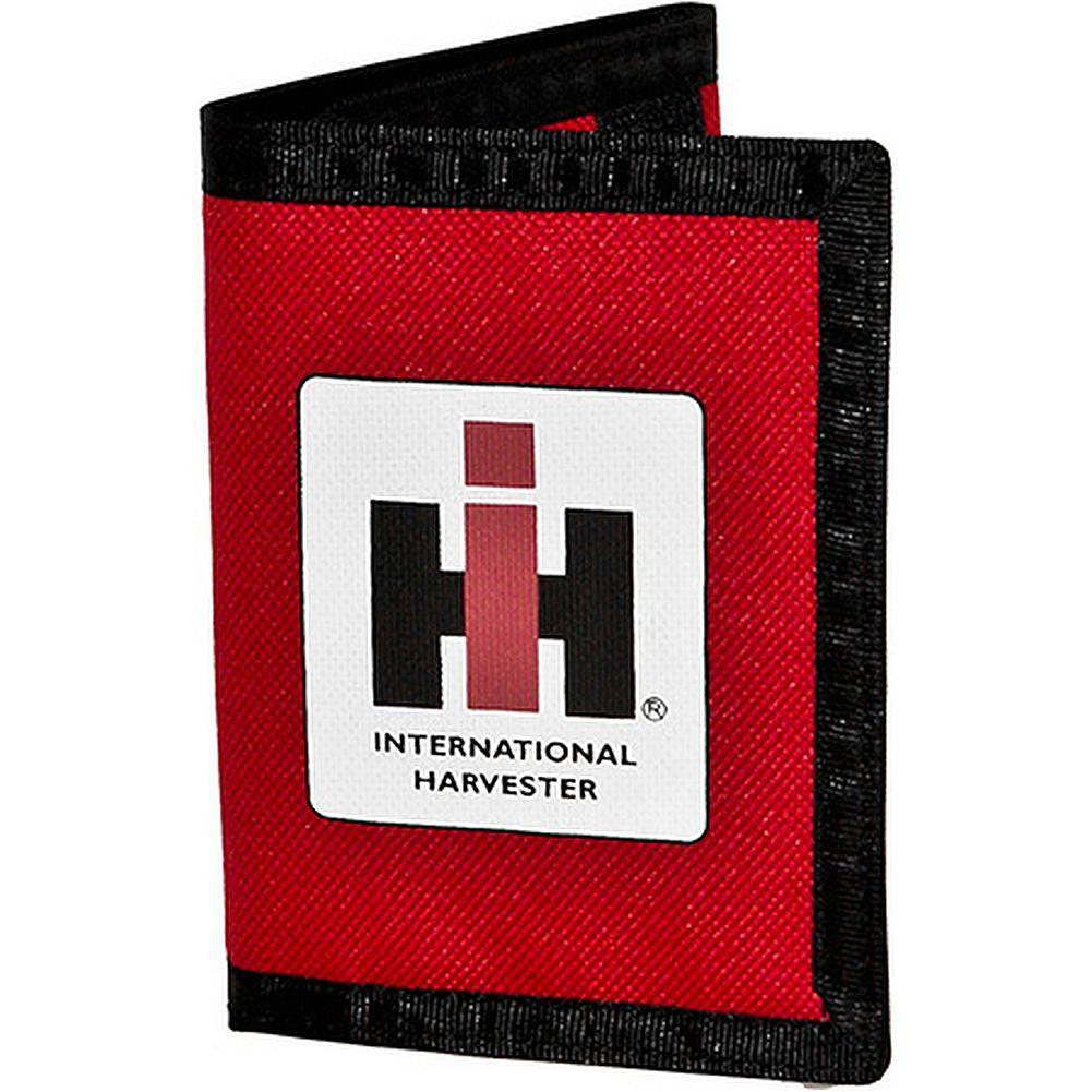 Case IH Nylon Trifold Wallet Red - tractorup2
